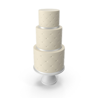 Cascade Cake with Decor of White Ribbon PNG & PSD Images
