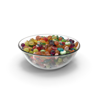 Bowl with Mixed Hard Candy PNG & PSD Images