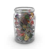 Jar with Wrapped Oval Candy PNG & PSD Images