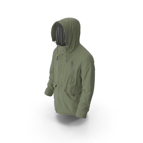 Men's Down Coat Green PNG & PSD Images