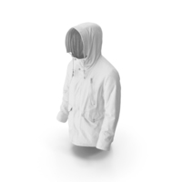 Mens Down Coat White PNG & PSD Images