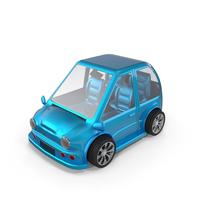 Cartoon Car Blue PNG & PSD Images