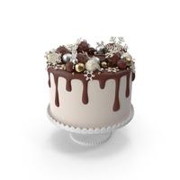 Snowflake Drip Cake PNG & PSD Images