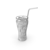 Juice Glass White With Straw PNG & PSD Images