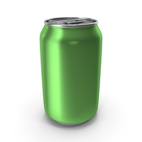 Aluminum Can 330ml Light Green PNG & PSD Images