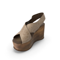 Womens Shoes Wood Beige PNG & PSD Images