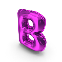 Balloons Alphabet Letter B PNG & PSD Images