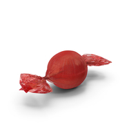 Wrapped Red Spherical Candy PNG & PSD Images