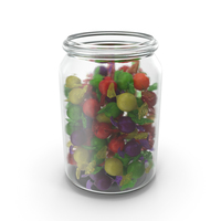 Jar with Wrapped Spherical Candy PNG & PSD Images