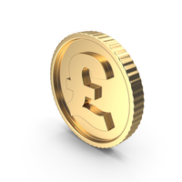 Golden Coin Pound Gold Light PNG & PSD Images