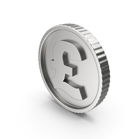 Coin Pound Silver PNG & PSD Images