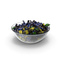 Bowl with Wrapped Toffee Candy PNG & PSD Images