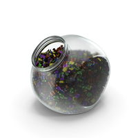 Spherical Jar with Wrapped Toffee Candy PNG & PSD Images