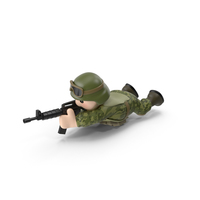 Soldier Shooting Lying PNG & PSD Images