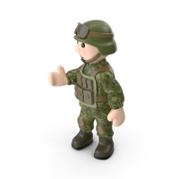 Soldier Pointing PNG & PSD Images