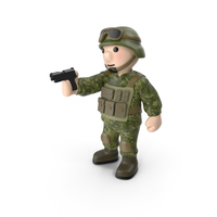 Soldier with Pistol PNG & PSD Images