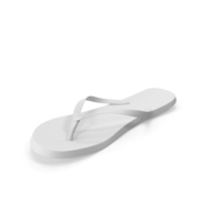 Men's Flip Flops White PNG & PSD Images