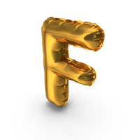 Balloons Alphabet Letter F PNG & PSD Images