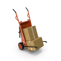 Cart with Cardboard Box PNG & PSD Images