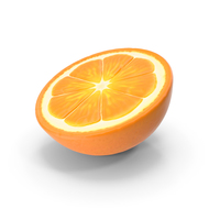 Half Fresh Orange Fruit PNG & PSD Images
