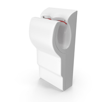High Velocity Vertical Hand Dryer White PNG & PSD Images