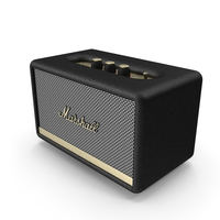 Marshall Acton II Wireless Wi-Fi Smart Speaker Black PNG & PSD Images