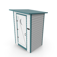 Painted Wooden Outhouse Toilet PNG & PSD Images