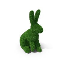 Rabbit Topiary Sculpture PNG & PSD Images
