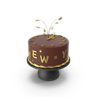 Happy New Year Cake PNG & PSD Images