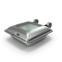 Square Induction Chafer with Glass Top PNG & PSD Images