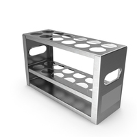 Stainless Steel Test Tube Rack PNG & PSD Images