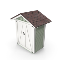 Wooden Vertical Storage Shed PNG & PSD Images