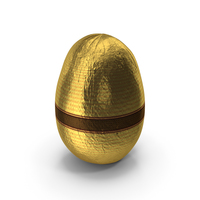 Wrapped Fancy Chocolate Easter Egg Golden PNG & PSD Images