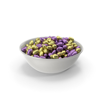 Bowl with Small Wrapped Chocolate Easter Eggs PNG & PSD Images