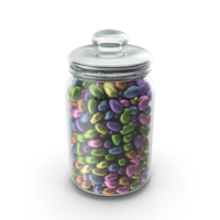 Jar with Small Wrapped Chocolate Easter Eggs PNG & PSD Images