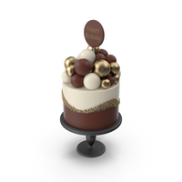 Cake with Birthday Topper PNG & PSD Images