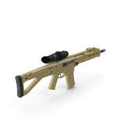 Combat Rifle with Thermal IR Scope PNG & PSD Images
