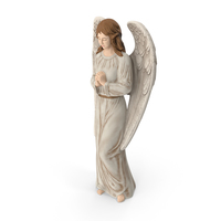 Decorative Garden Statue Praying Angel PNG & PSD Images