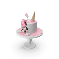 Minnie Mouse Cake PNG & PSD Images