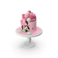 Minnie Mouse Pink Cake PNG & PSD Images
