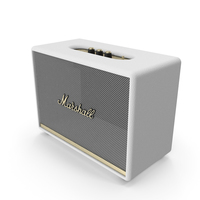 Marshall Woburn II Wireless Bluetooth Speaker White PNG & PSD Images
