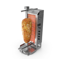 Potis Vertical Rotisserie Grill with Doner Kebab PNG & PSD Images
