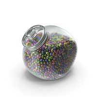 Spherical Jar with Small Wrapped Chocolate Easter Eggs PNG & PSD Images