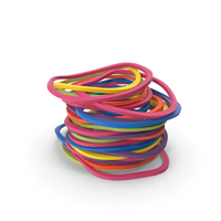 Stack of Colorful Rubber Bands PNG & PSD Images