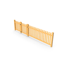 Wooden Picked Fence Section PNG & PSD Images