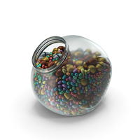 Spherical Jar With Mixed Wrapped Chocolate Easter Eggs PNG & PSD Images