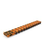 12 Axle Lines Modular Transporter Goldhofer Orange PNG & PSD Images