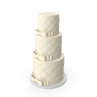 White Wedding Cake with Bows PNG & PSD Images