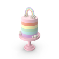 Rainbow Cake PNG & PSD Images