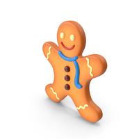 Cartoon Gingerbread Man PNG & PSD Images